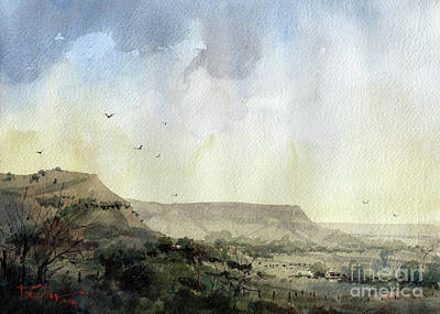 Painting - Double Mountain Fork Of The Brazos Country by Tim Oliver