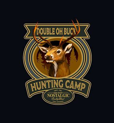 Digital Art - Double Oh Buck by Peggy Novak