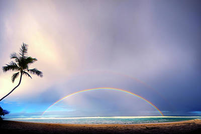 Double Rainbow Photograph - Double Overhead by Sean Davey