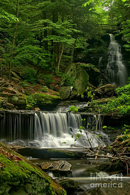 Photograph - Double Ozone Falls by Adam Jewell