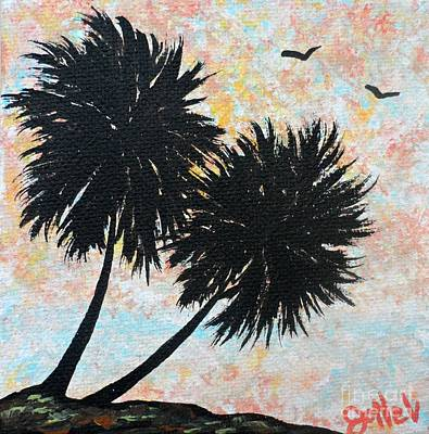 Painting - Double Palms by JoNeL Art