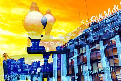 Photograph - Double Paris Metro Pop Art by John Rizzuto