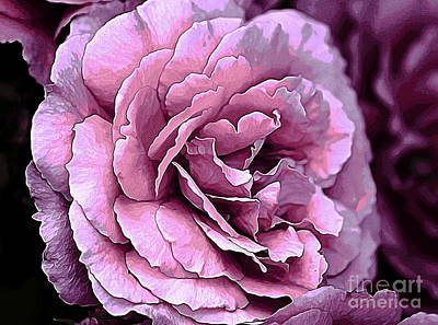 Photograph - Double Pink Rose by Erica Hanel