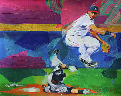 Painting - Double Play by Steven Lester