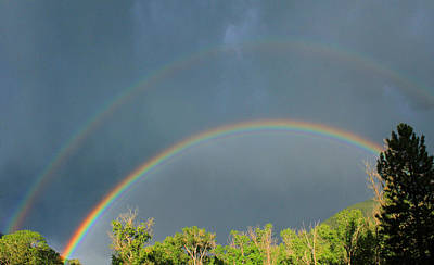 Photograph - 2d14249-double Rainbow  by Ed  Cooper Photography