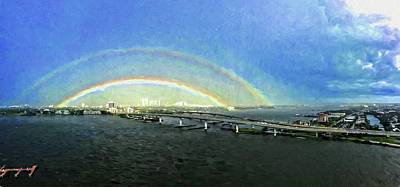 Photograph - Double Rainbow by Alice Gipson