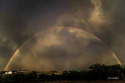 Photograph - Double Rainbow And Clouds by Karen Slagle