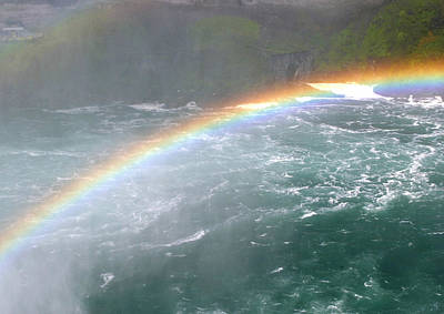 Photograph - Double Rainbow At Niagara Falls by Living Color Photography Lorraine Lynch