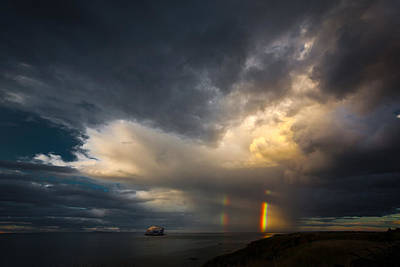 Photograph - Double Rainbow by Avril Christophe
