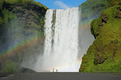 Photograph - Double Rainbow By Skogafoss Waterfall by Anthony Doudt