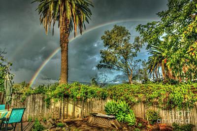 Photograph - Double Rainbow Crystals And Sunshine by David Zanzinger