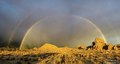 Art Print featuring the photograph Double Rainbow Gold by Gaelyn Olmsted
