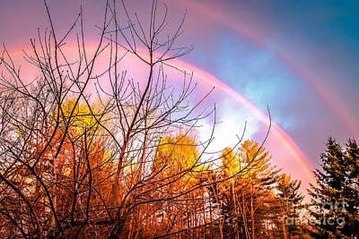 Double Rainbow-hdr Art Print