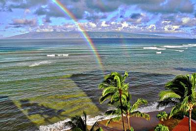 Photograph - Double Rainbow In Maui by Kirsten Giving