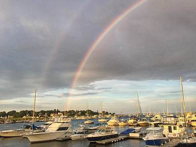 Photograph - Double Rainbow In Newburyport by Anne Sands