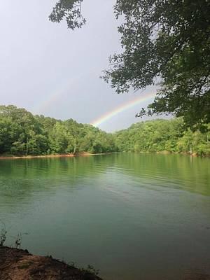 Lake Keowee Photograph - Double Rainbow by Jimmy Hunt