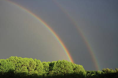 Photograph - Double Rainbow by John Burk