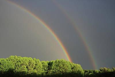 Photograph - Double Rainbow by John Burk