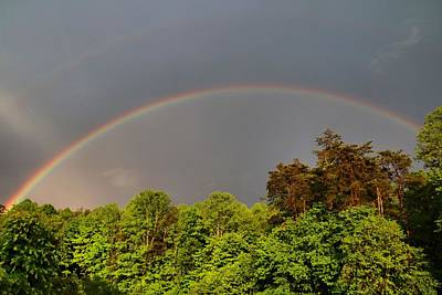 Photograph - Double Rainbow by Kathryn Meyer