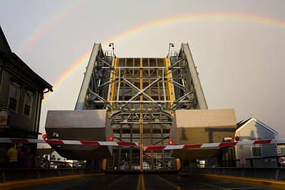 Photograph - Double Rainbow Mystic Drawbridge by Kirkodd Photography Of New England