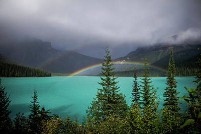 Photograph - Double Rainbow On Emerald Lake by Thomas Nay
