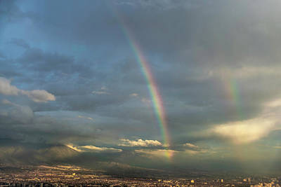 Photograph - Double Rainbow Over Santiago by Steven Richman
