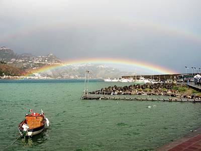Double Rainbow Over The Sea, Sicily, Italy. Original