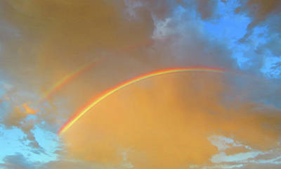 Photograph - Double Rainbows In The Desert by Judy Kennedy