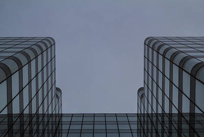 Blue Photograph - Double Reflection by Claire  Doherty