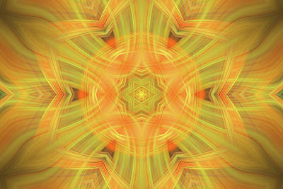 Double Star Abstract Art Print by Linda Phelps
