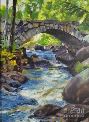 Painting - Double Stone Arch Bridge  by Janet Poirier