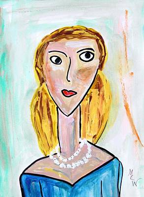 Mary Carol Art Drawing - Double Strand by Mary Carol Williams