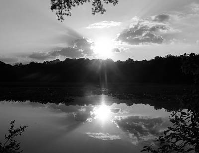 Double Sun Set  Print by D R TeesT