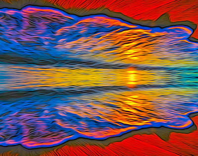 Digital Art - Double Sunset 003 28 12 2015 by Algirdas Lukas