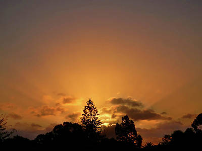 Photograph - Double Sunset by Mark Blauhoefer