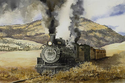 Double Teamin To Cumbres Pass Print by Sam Sidders