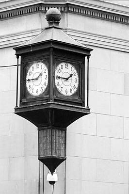 Photograph - Double Time Black And White by Jill Reger