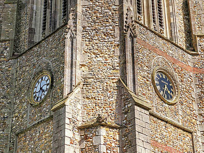 Photograph - Double Time - Church Clocks by Gill Billington