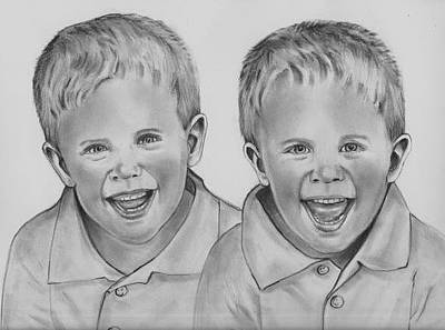 Drawing - Double Trouble by Barb Baker