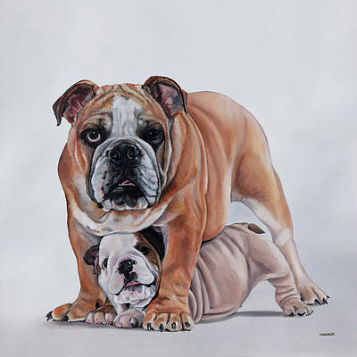 Painting - Double Trouble by Gail Chandler