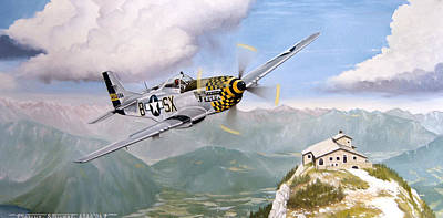 Double Trouble Over The Eagle Art Print by Marc Stewart