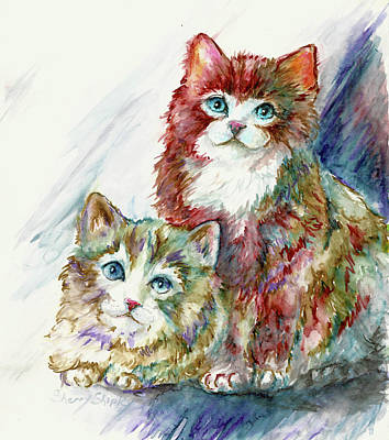 Painting - Double Trouble by Sherry Shipley