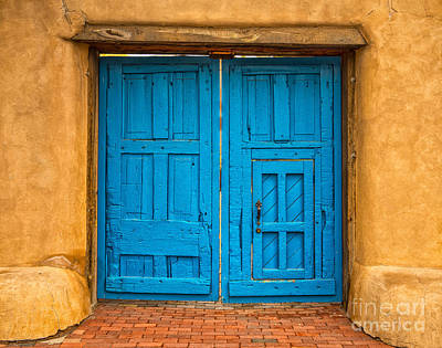 Ristra Digital Art - Double Turquoise Doors by Jerry Fornarotto