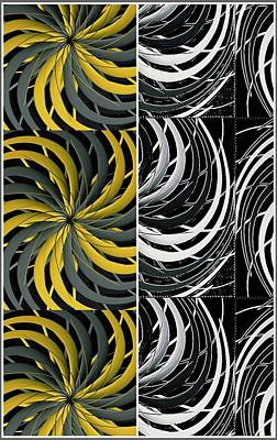 Digital Art - Double Twirl Art Abstract   by Sheila Mcdonald
