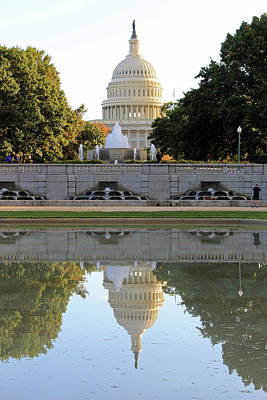 Photograph - Double Vision At The United States Capitol by Cora Wandel