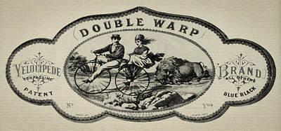 Double Warp Velocipede 1869 Bicycle Art Print