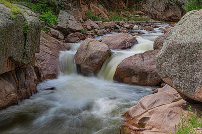 Photograph - Double Waterfall Splashdown by James BO Insogna