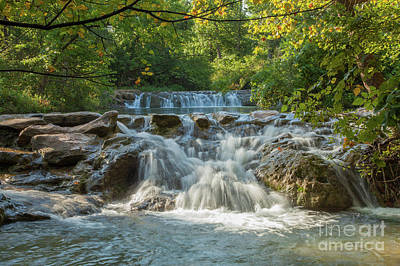 Photograph - Double Waterfalls by Iris Greenwell