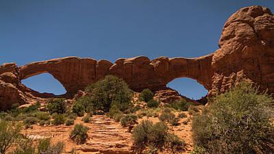 Photograph - Double Windows Arches National Park Utah by Lawrence S Richardson Jr