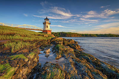 Photograph - Doubling Point Lighthouse by Rick Berk